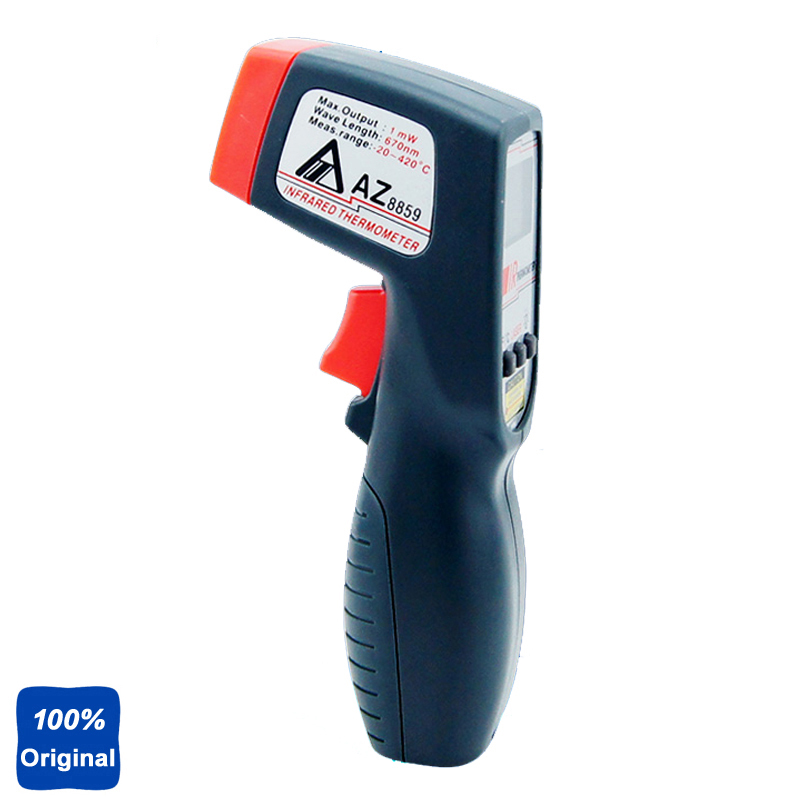 AZ8859 Handheld Gun Type IR Thermometer Infrared Digital Thermometer with Backlight az 8889 ir thermometer az8889 measuring range 40c 500c az 8889 gun type infrared thermometer