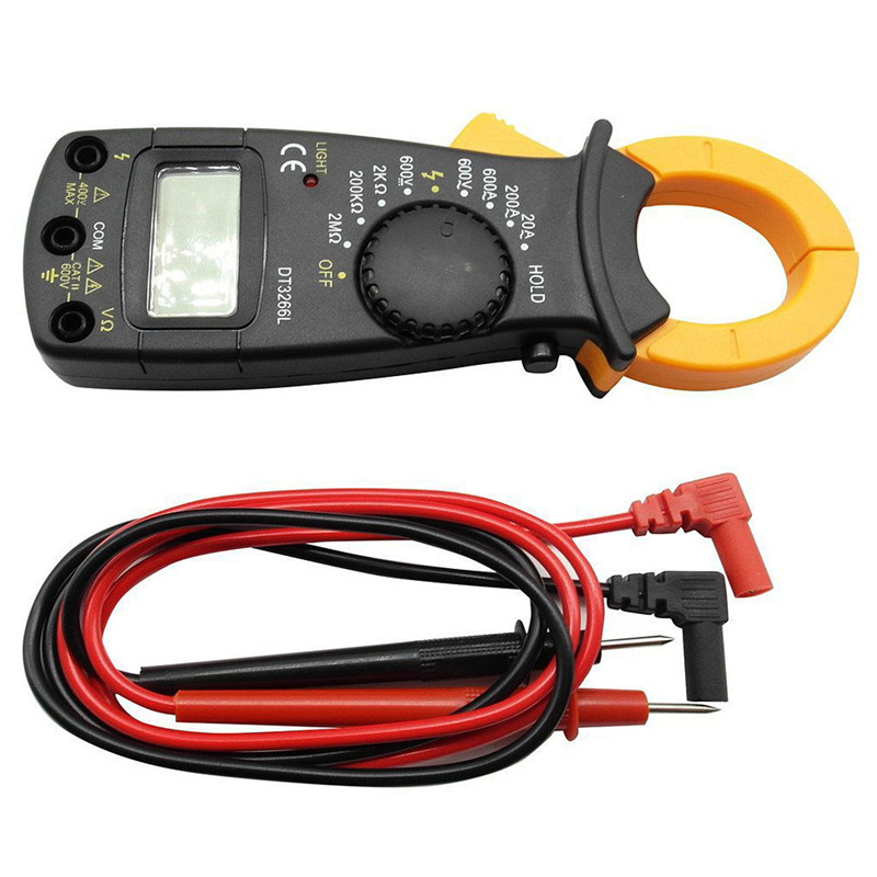 Digital Clamp Meter Multimeter Current Clamp Pincers AC/DC Current Voltage Resistance Tester Measuring Tools clamp multimeter dt3266l lcd display digital multimeter handle ac voltage current resistance tester dt3266l multimeter tester