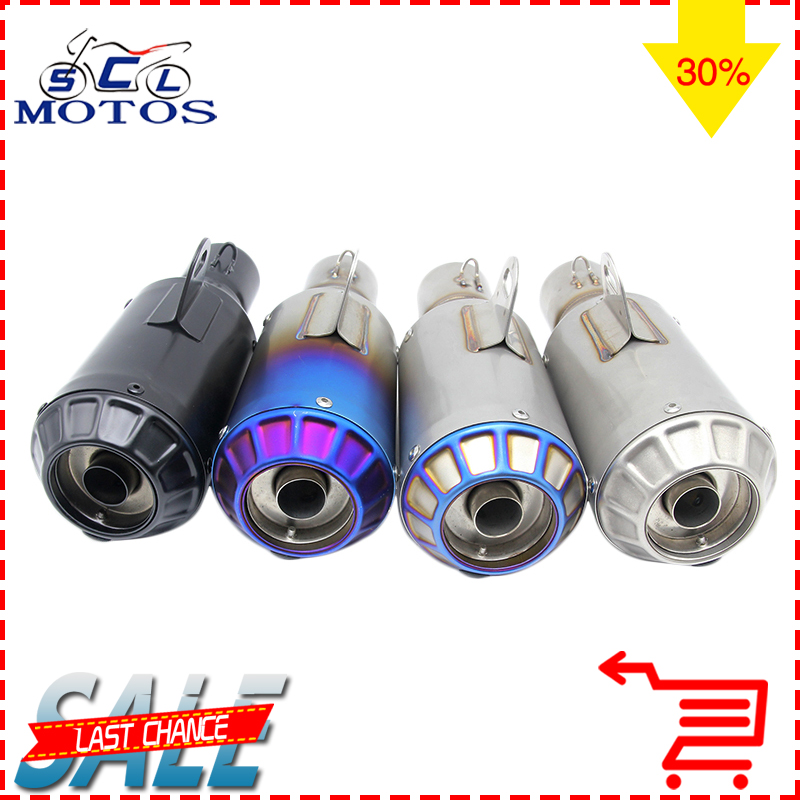 Sclmotos 51mm Universal Motorcycle Modified Scooter Akrapvic Yoshimura Exhaust Muffle Pipe CBR125 CB400 YZF FZ400 Z750 Z1000