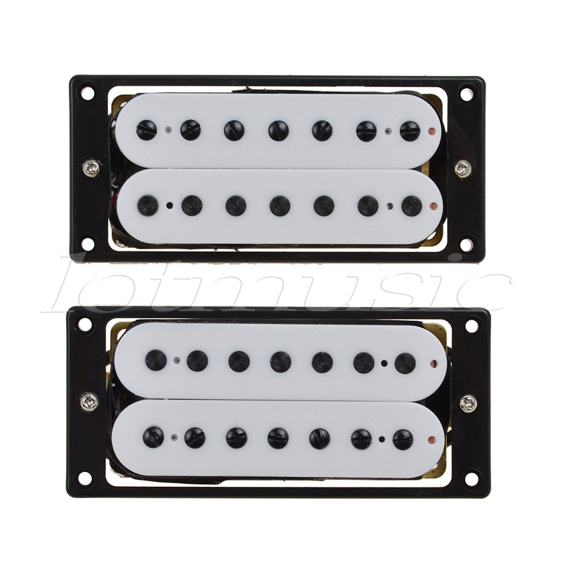 Electric Guitar Pickups Humbucker Bridge Neck Set Black Double Coil Pickup 7 String Guitar Parts Accessories belcat bass pickup 5 string humbucker double coil pickup guitar parts accessories black
