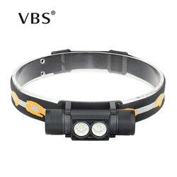 Head Light 10W USB Charging Head Lamp Waterproof Head Torch LED Heads flashlight for Running Lantern on forehead