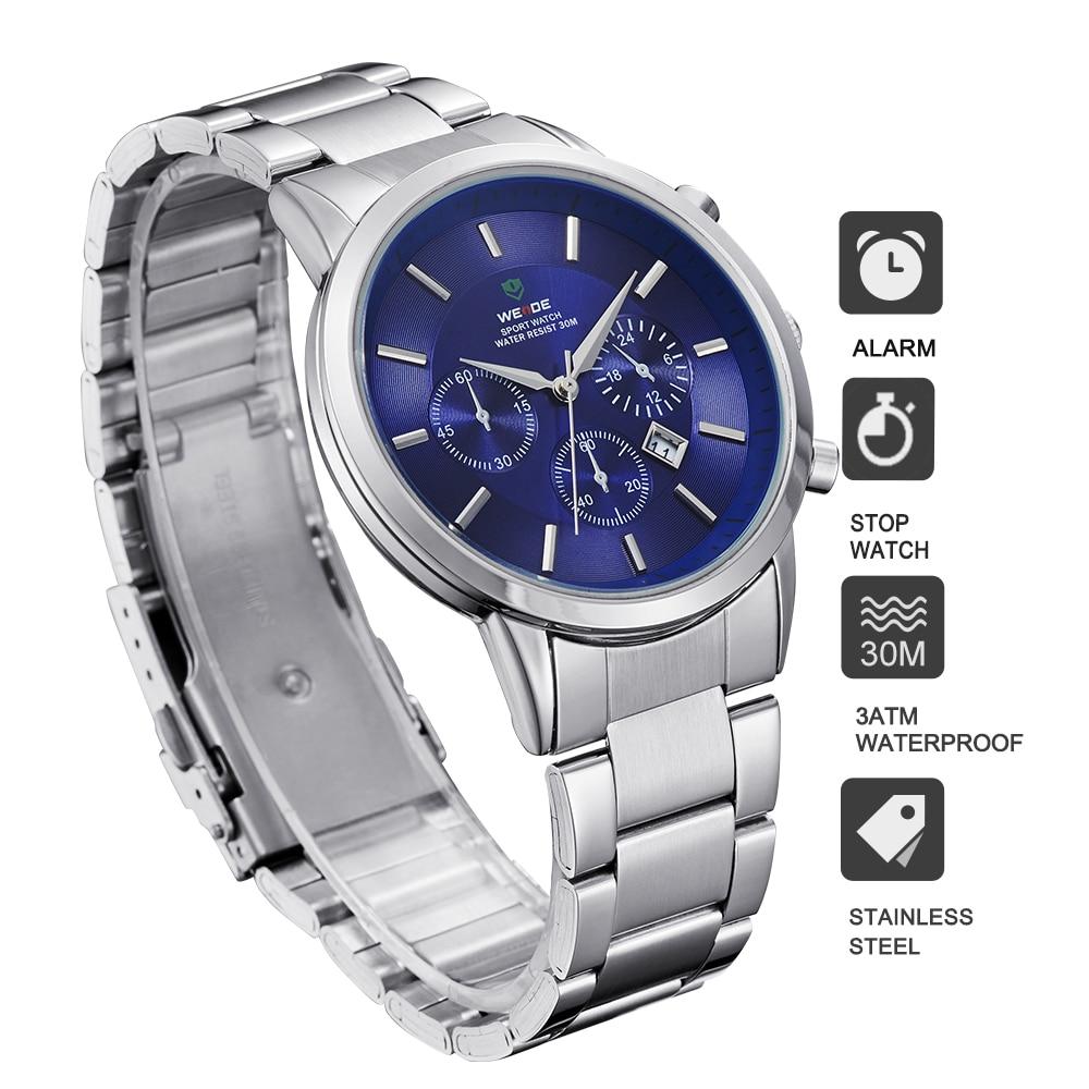 WEIDE 신사 값 비싼 쿼츠 시계 Luxury Brand Sport Watch - 남성 시계 - 사진 5