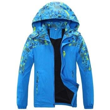 מדד עמיד למים 10000mm פעמיים סיפון Windproof בני בנות מעילי ילדי הלבשה עליונה חם ילד מעיל עבור 7-16 שנים