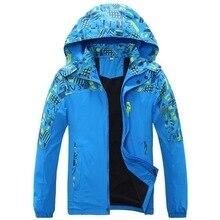 防水インデックス10000ミリメートル防風印刷ガールズボーイズジャケット暖かい子供コート子供の上着子供服のための120 170センチメートル