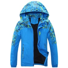 Double-deck Waterproof Windproof Boys Jackets Children Outerwear Warm Child Coat Kids Clothes For 7-16 Years Old