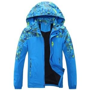 Image 1 - À prova dwaterproof água índice 10000mm à prova de vento impressão meninas meninos jaquetas quente criança casaco crianças outerwear crianças roupas para 120 170cm