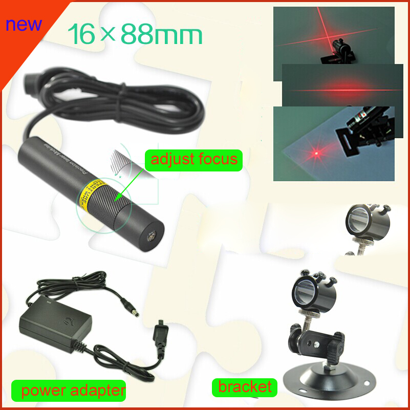 10mW 648nm red laser diode module Dot beam shape with bracket and power adapter, plug and use