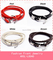 New Fashion Women/Men Leather Pirates of the Caribbean Anchor Bracelet Jewelry Wristband Stainless Steel Bracelets for Men/Women