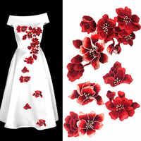 4 couleurs fleur de prunier fleur broderie Patch tissu autocollant Applique vêtements fer à coudre sur Patch artisanat couture réparation