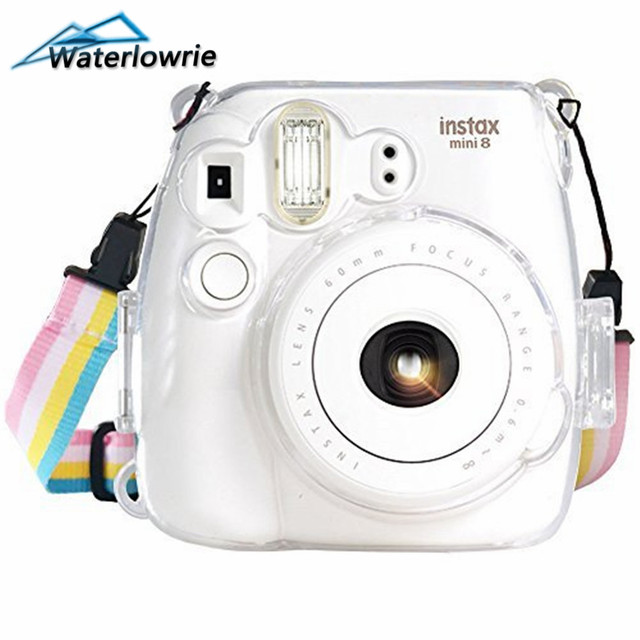 d838806abf69 Cases for Fujifilm Instax Mini 9 Waterlowrie Camera Protection Case  Transparent Plastic Cover With Strap For