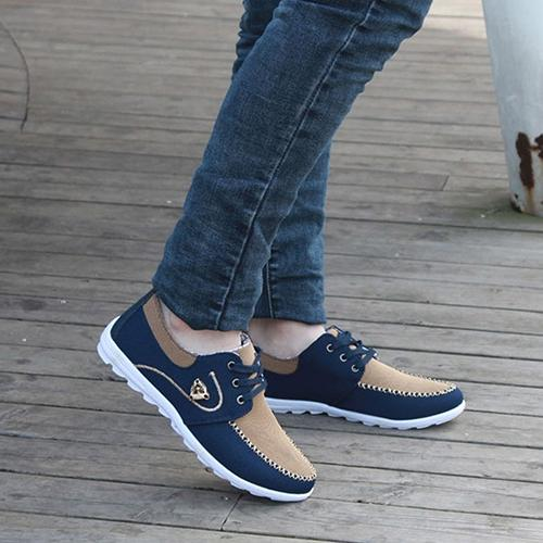 Men Fashion Canvas Daily Casual Patchwork Sneakers Sports Outdoor Shoes