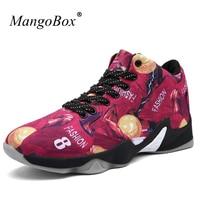 2017 Basketball Training Shoes Men Anti Slippery Basketball Sneakers Black Yellow Men Basketball Boots Shockproof Sport