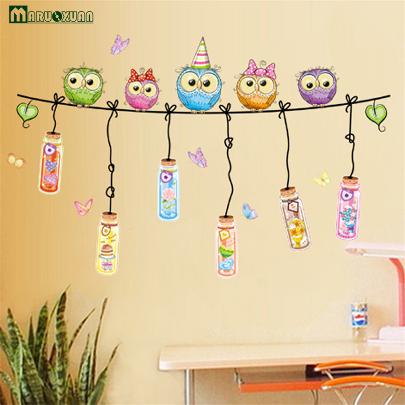 New Kindergarten Classroom Decorated Cartoon Animals Wall Stickers ...