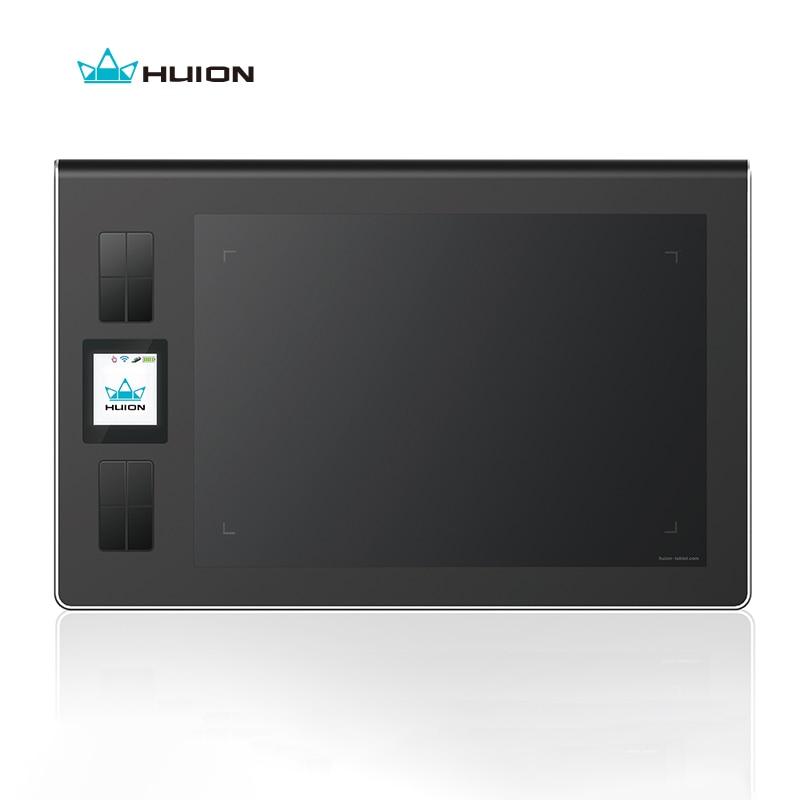 Huion Genuine Schermo Lcd Wireless Graphics Disegno Compresse Firma Art Tablet Bambini Penna Bordo Pad Grafica Tableta Nero DWH69