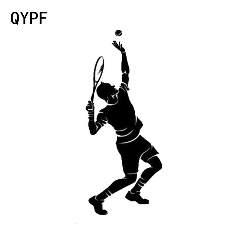 QYPF 5cm*12.5cm Personality Fashion Play Tennis Sports Car Stickers Funny Accessories S2-0320