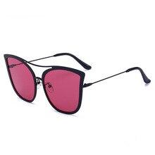 Fashion Cat Eye Sunglasses Women Brand Designer Personality Double Beam Sunglasses Fashion Metal Sun Glasses Gafas De Sol Mujer стоимость