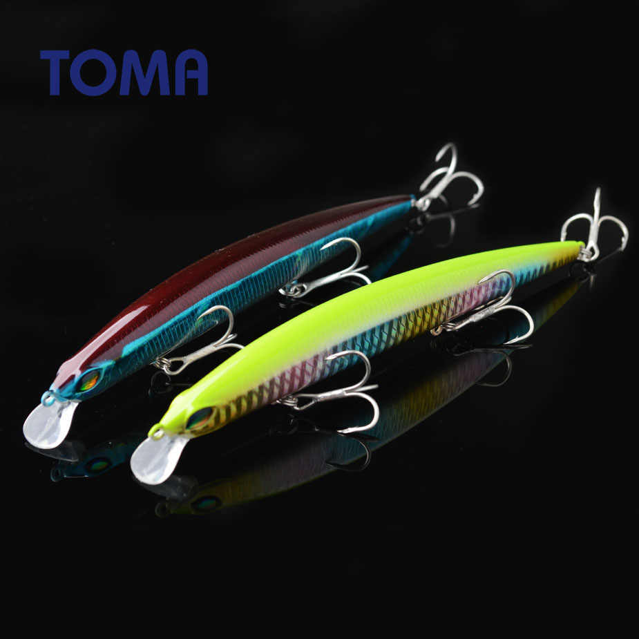 TOMA Suspend Minnow Fishing Lure Wobbler 145mm 20g Floating Hard Lure Artificial Crankbait Sea Bass Bait Fishing Tackle