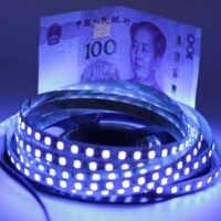 Tira de luz led negra de 12V ultravioleta 395-405nm 5050 2835 SMD 60led/m 120led/m lámpara de cinta impermeable para fiesta de fluorescencia DJ