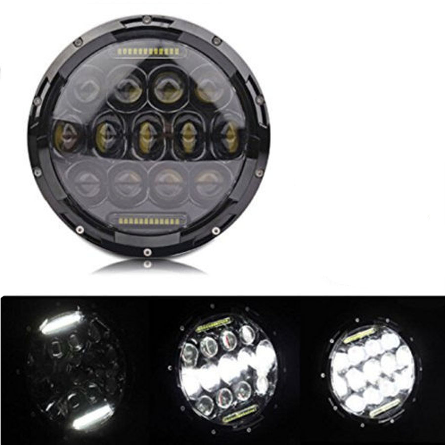 1PCS 7inch 75W Round LED Headlight 7500LM Hi/Low Beam Head Light with Bulb DRL for wrangler TJ LJ JK CJ-7 CJ-8 Scrambler Harley whdz 1pc round 7inch 75w round led headlight hi low beam head light with bulb drl for jeep wrangler tj lj jk cj 7 cj 8 scrambler