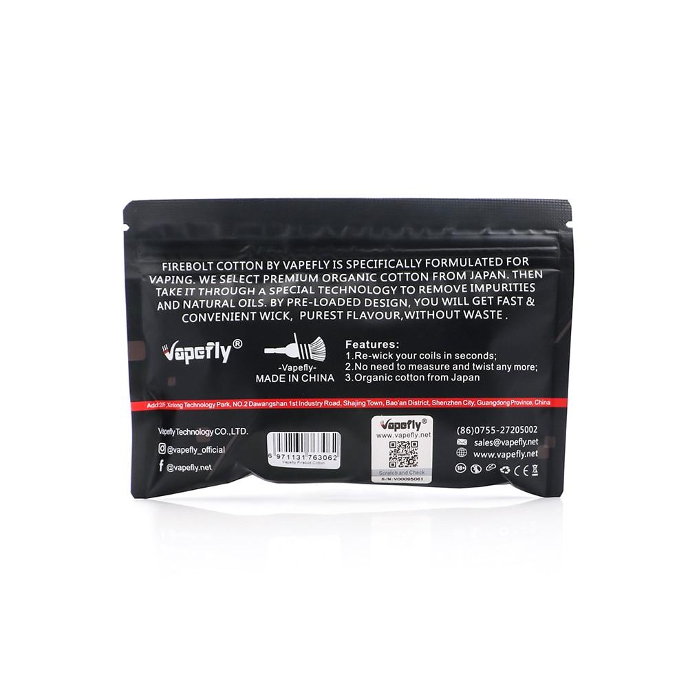 Image 2 - NEW Electronic cigarette Cotton Vapefly Firebolt Cotton Vape Cotton for RDA RTA Coil Wick vaporizer Pre loaded organic CottonElectronic Cigarette Accessories   -