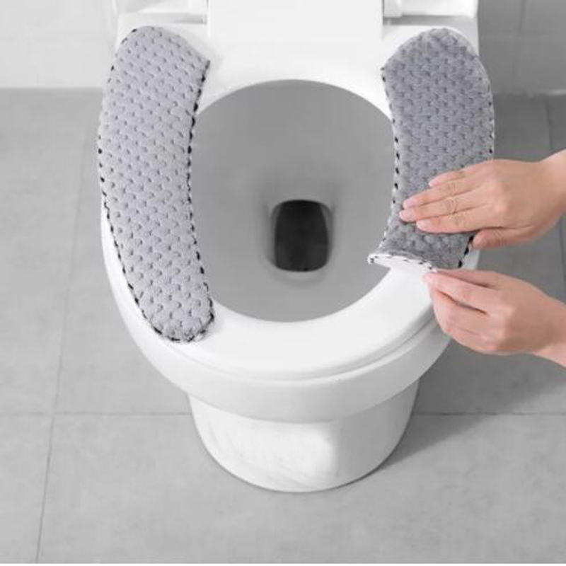 1pc Universal Washable Decorative Toilet Seat Covers Toilet Mat Cushion Home Stickers Toilet Cushion Cover Paste Lids For Home toilet seat