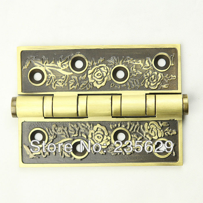 Free Shipping, brass Hinges for timber door / Metal Door, 3mm thickness, Low Noise,dark anti-copper Color free shipping wall mounted brass door stopper suitable for interior doors door holders for sale high suction 240g