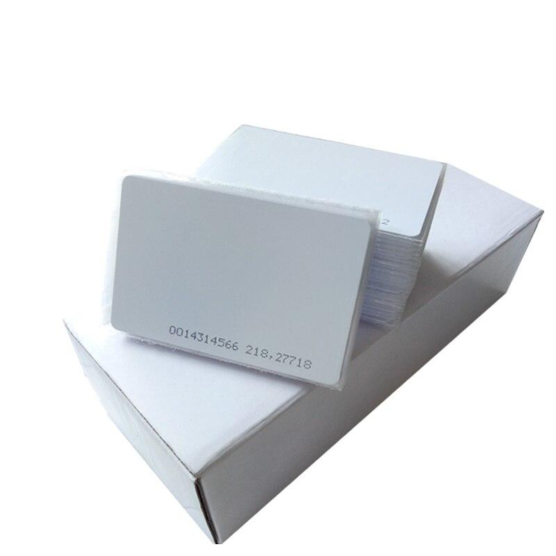 200 PCS Cartões De IDENTIFICAÇÃO de Proximidade RFID 125 Khz ID LOS EM4100 TK4100 CR80 Tamanho Do Cartão