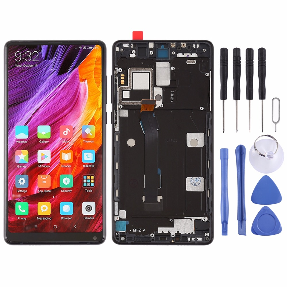 LCD Screen and Digitizer Full Assembly with Frame for Xiaomi Mi Mix2LCD Screen and Digitizer Full Assembly with Frame for Xiaomi Mi Mix2