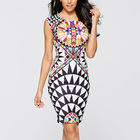 Save 12.68 on Tropical floral New Sheath Robe Summer Geometric Bodycon Dress Womens Sexy Plus Size Party Dresses Women Clothing Vestidos 2249