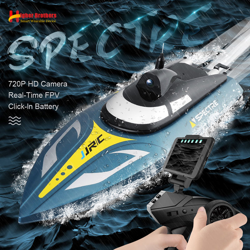 2.4G 25km/h RC Racing Boat 720P HD AR VR Camera WIFI FPV App Remote Control Explore Speedboat Ship Water System Adult Kids Gift(China)