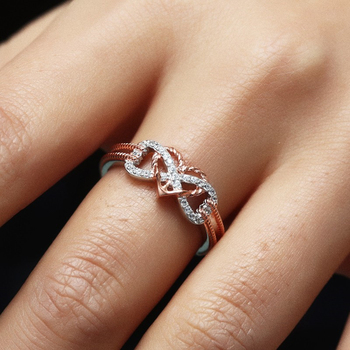 Heart Infinity Rope Ring 6