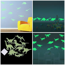 9Pcs 18x14cm Glow In The Dark Dinosaurussen Speelgoed Stickers Plafond Decal Baby Kid Kamer(China)