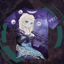 Negro Bullet Tina Brote T-shirt Camiseta Del Verano Hombres Mujeres Tops Anime Cosplay Vestidos hombres Camisetas Envío Libre