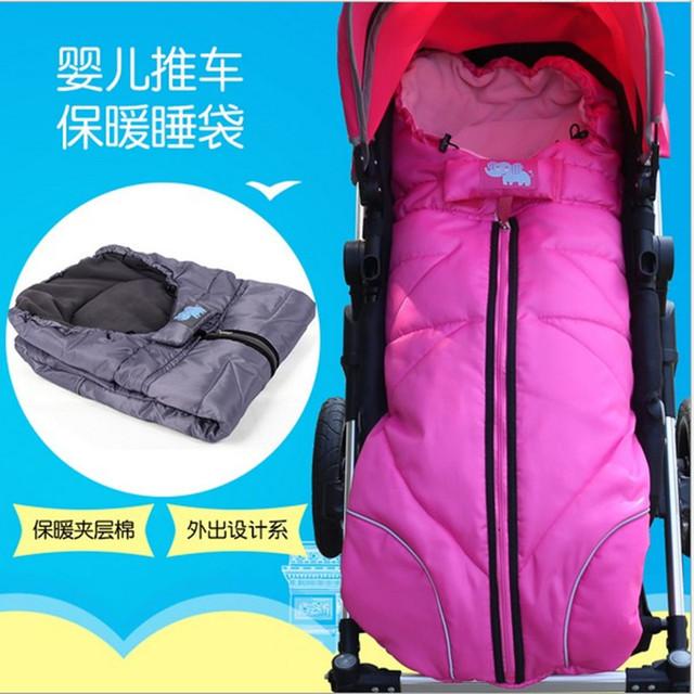 Invierno Del Bebé Sacos de dormir Del Bebé Sleepsacks saco de Dormir Del Cochecito compras Carrito Infant Fleabag Gruesa de Algodón Swaddle Bolsa