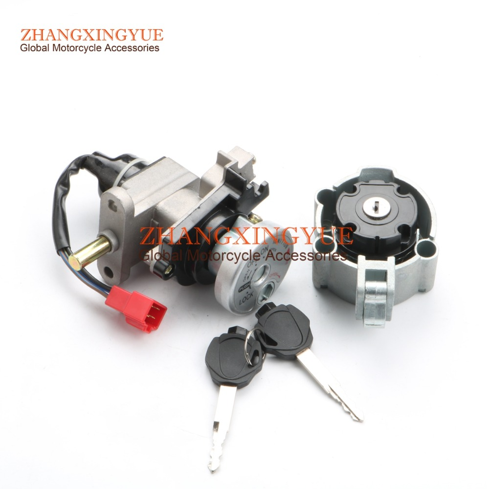 COOTER LOCK KIT IGNITION SWITCH GAS CAP KEYS for YAMAHA BWS125 ZUMA 125 5S9 WH203 02