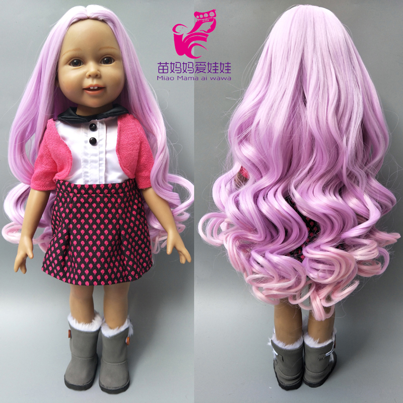 18 inch American girls doll hair 25-28CM Head circumference wigs for doll hair repair все цены