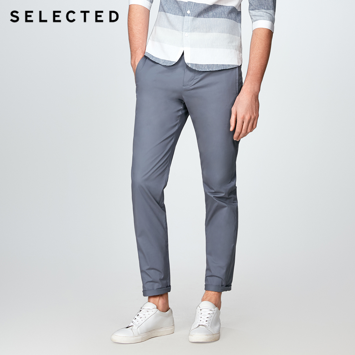 Image 2 - SELECTED  cotton business leisure straight leg long pants S4182W2511-in Casual Pants from Men's Clothing