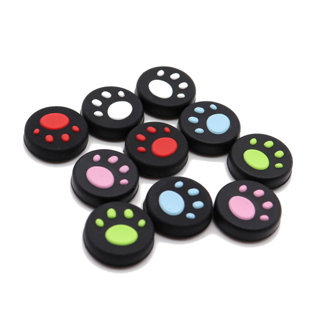 TingDong for Nintend Switch NS Joy-Con Silicone Analog Controller Joysticks Cute Cat Claw Thumb Stick Grips Cap 1
