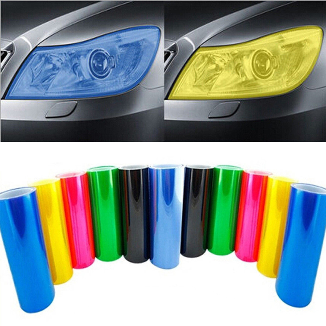 Image 3 - New Arrival 1pc 30*60CM PVC Car Vehicle Headlight Tail Light Vinyl Film Wrap Sticker Decal 5 Colors-in Car Stickers from Automobiles & Motorcycles
