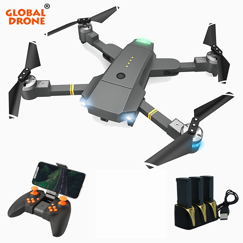 Global Drone Selfie Drone Professional Helicopter Wifi Phone Control RC Quadcopter Foldable Drones with Camera HD vs xs809hw