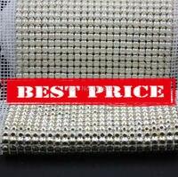 4 MM 24 rows 5 yardas de la perla del ABS de plástico recorte para coser la malla recorte boda novia artesanía decoración envío gratis por DHL