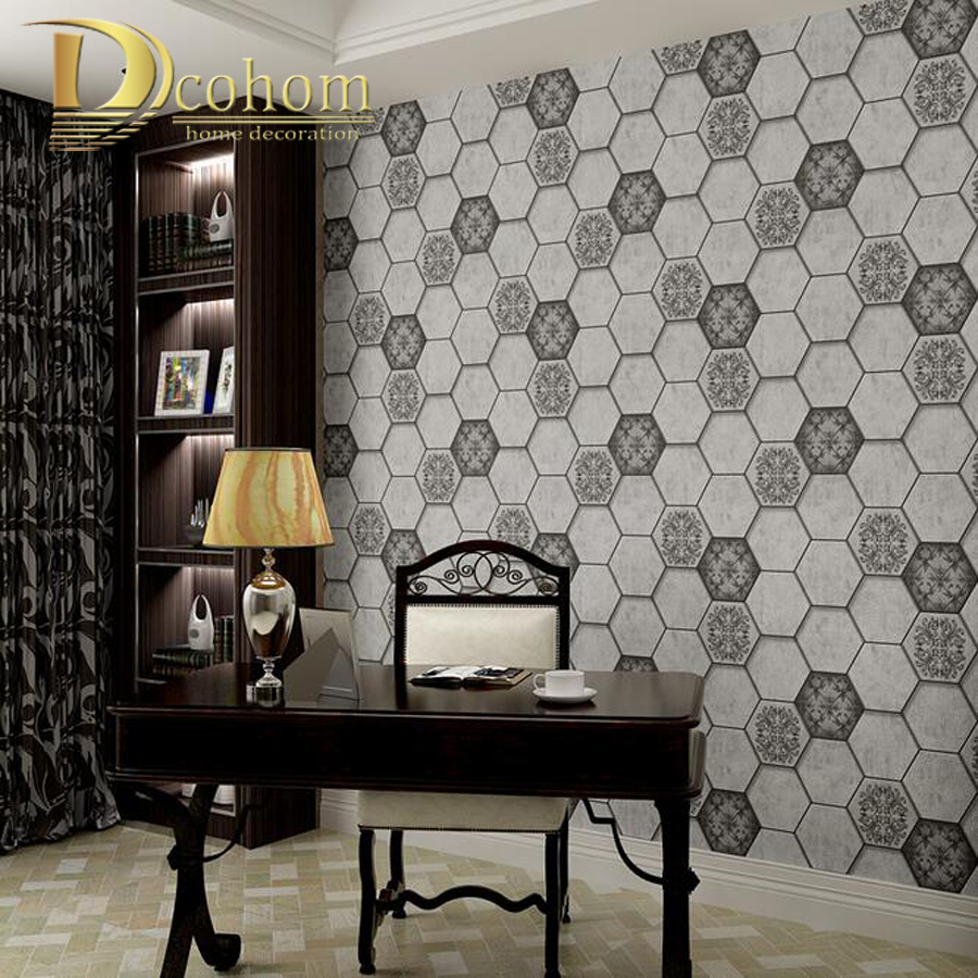 Geometric 3D Brick Wallpaper For Walls Waterproof Vinyl Vintage Brick Pattern Wall Paper Rolls For living Room Bedroom Decor fashion letters and zebra pattern removeable wall stickers for bedroom decor