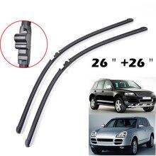 """2"""" 26"""" для Porsche Cayenne 2003 2004 2005 2006 для VW Touareg щетки стеклоочистителя Bracketless ветровое стекло левый руль"""
