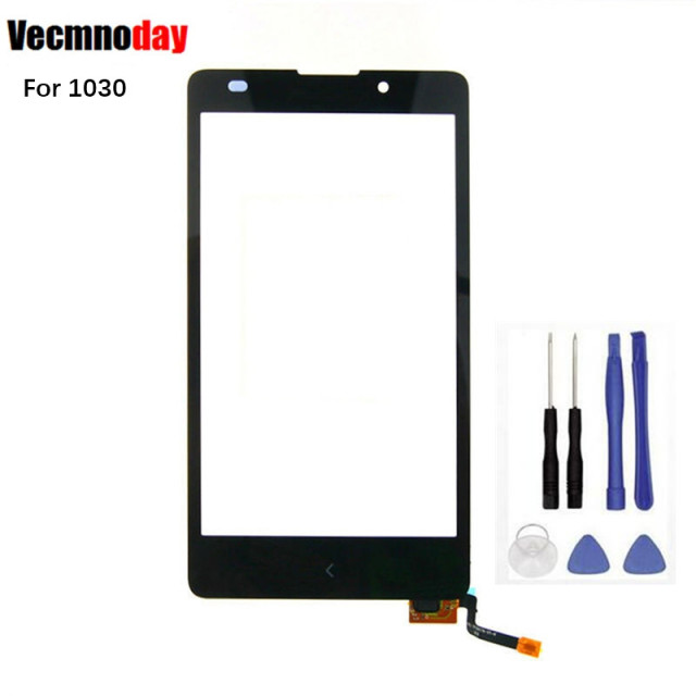 Vecmnoday Touch Screen Front Digitizer Glass Display Frame For Nokia XL Dual Sim RM-1030 RM-1042 Touch Panel Accessories