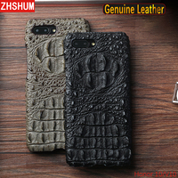 Luxury Genuine Leather Case For Huawei Honor 10 View Crocodile Pattern Skin Handmade Case 360 Full Back Cover for Honor 10 V10 V