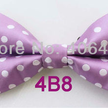 YIBEI Coachella Ties Lilac Bowtie With White Polka Dots Spots Butterfly  Tuxedo Adults Bow Tie Unisex 282419a9bb66