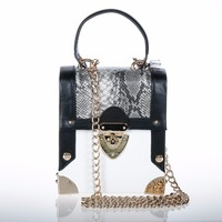WALLYN'S Ladies Shoulder Bag PU Leather With Snake print Luxury Handbags Women Messenger Bags Designer Fashion Clutch Bolsas Sac
