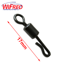 [100 PCS] Size 4 / UK Size 8 Quick Change Swivel with Safty Lead Weight Clip for Carp Fishing Terminal Tackle Wholesale