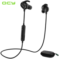 100 Original QCY QY19 Headphones Wireless Bluetooth 4 1 Headset Portable Sport Stereo Earphone Earbuds With
