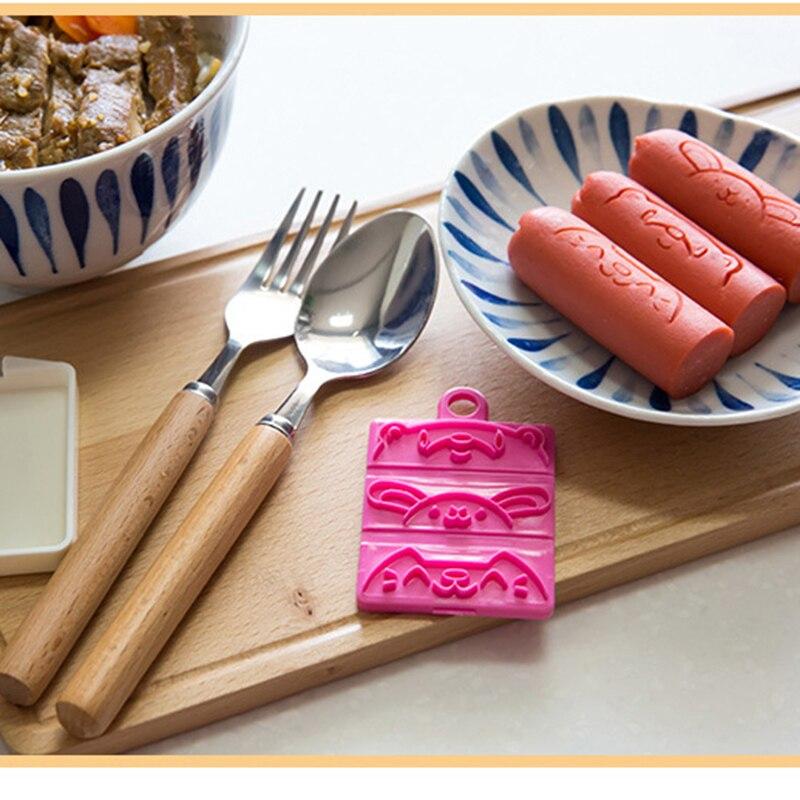 Колбаса резак плесень выбирает Обед Bento партии DIY Украсить милые симпатичные